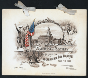 Independence Day Banquet 1901 American Society in London